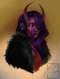 ArtStation - Purple Persuasion, J C Dungeons And Dragons Characters, Dnd Characters, Fantasy Characters, Dnd Tiefling, Tiefling Female, Alien Character, Character Art, Character Ideas, Fantasy Inspiration