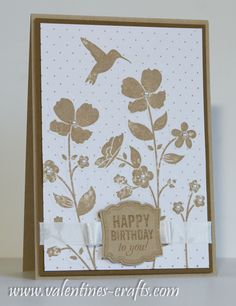 Stampin up card - Wildflower meadow