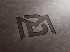 BM Monogram Leather Look