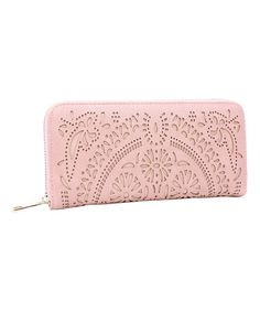 Look at this #zulilyfind! Blush Intricate Cutout Wallet #zulilyfinds