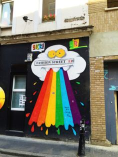 Street art, Fashion Street, London.