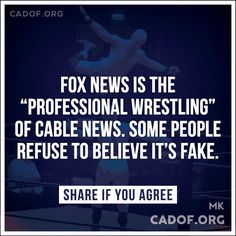 "Fox ""News"" is right-wing propaganda of lies designed to mislead, misinform and…"