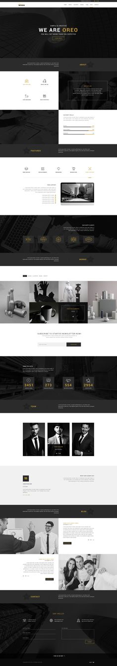 Oreo - Creative Landing Page PSD Template #bootstrap #classes #clean • Download ➝ https://themeforest.net/item/oreo-creative-landing-page-psd-template/19028538?ref=pxcr