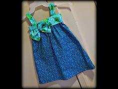 DIY Como hacer vestido de niña patrones incluidos talla 6 meses - 6 años - YouTube