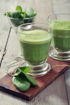 Green Smoothie with ginger.