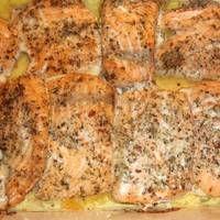 Karácsonyi lazac narancságyon Fish Recipes, Banana Bread, Salmon, Food And Drink, Keto, Yummy Food, Chicken, Xmas, Advent
