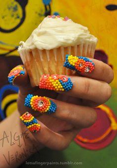 sprinkle nails :)