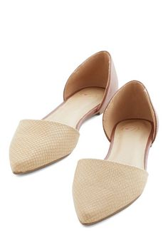 You Got a New Aptitude Flat in Brown - Flat, Faux Leather, Solid, Animal Print, Work, Casual, Good, Variation, Cream, Brown, Minimal