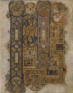 Book of Kells p. 258 (full page), Trinity College Dublin. http://digitalcollections.tcd.ie/home/index.php?DRIS_ID=MS58_003v