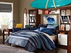 Stuff-your-Stuff Laidback Bedroom pottery barn  hunter's surf  bedroom