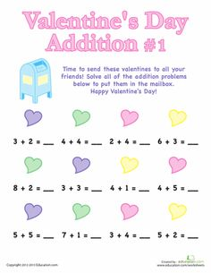 Little love-bugs can have a blast solving these Valentine's Day subtraction problems! Build basic math skills with this practice sheet. Subtraction Worksheets, Addition Worksheets, Kindergarten Worksheets, Math Activities, Multiplication, Educational Activities, Learning Tools, Learning Resources, Teaching Ideas