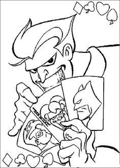 Smiling Joker Coloring Page