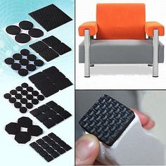 Adhesive Rubber Furniture Feet Floor Protector Pads Anti-Skid Scratch DIY Resistant Mats Table Legs Stools Chairs Protection