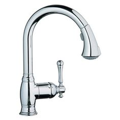 Grohe Bridgeford High Profile One Handle Single Hole Kitchen Faucet with Pull Down Spray and WaterCare