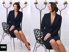 HARPER   Office jacket YOKKO   fall 16  #newcollection #officeoutfit #jacket #yokko #style #fashion #women #bleumarine