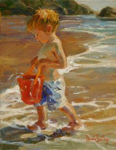 Galleries in Carmel California- Jones/Terwilliger - Corinne Hartley, Artist .My James Paintings I Love, Beautiful Paintings, Oil Paintings, Acrylic Paintings, Painting People, Claude Monet, Portrait Art, Portraits, Beach Art