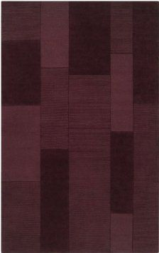 amazoncom area rug 5x8 rectangle maroon color surya bristol