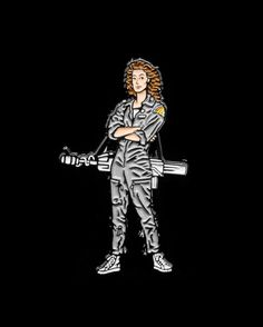 Ellen Ripley pin from @psa_press  One of the most legendary badasses of all time!  Buy it through their link in bio!