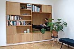 Bookcase Closet, Bookcases, Just Dream, Diy Furniture, Ikea, New Homes, Woodworking, Shelves, Inspiration