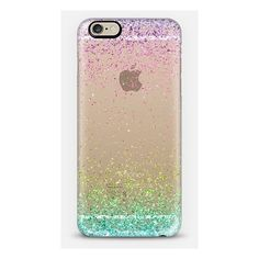 Colorful Ombre Sparkly Glitter Burst iPhone ($40) ❤ liked on Polyvore featuring accessories, tech accessories, phones, phone cases, cases and electronics