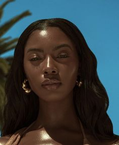 2019 Super Cute Makeup Ideas for Dark Skin Women - Make Up - Dark Skin Makeup, Dark Skin Beauty, Black Beauty, Makeup Black Women, Glowy Skin, Ebony Beauty, No Make Up Make Up Look, Look Dark, Black Girl Aesthetic