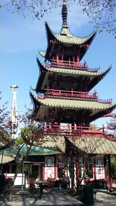 The Chinese Tower Tivoli May 2016 Tivoli Gardens, Denmark, Tower, Chinese, Projects, Lathe, Chinese Language