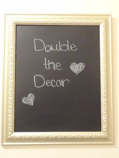 Double the Decor: Picture Frame Chalkboard