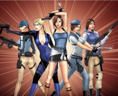 i'm a huge fan of the resident evil series, and this is my tribute to my favorite heroine of the series. this is all the popular attires jill has in her. the many looks of Jill Valentine Resident Evil 5, Valentine Resident Evil, Jill Valentine, Jill Sandwich, Resident Evil Collection, Leon S Kennedy, Evil Art, Costume Contest, Jojo Bizzare Adventure
