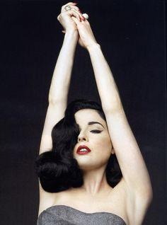Dita is divine! Fetish model and burlesque performer, author, Dita Von Teese