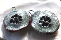 Flat Crackle Flowers by ScorchedEarthonEtsy on Etsy