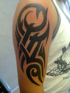simple lines tribal arm tattoo I love it!!