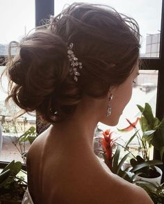 Lenabogucharskaya Bridal Wedding Hairstyle Updos Best Picture For wedding hairstyles updo with headband For Your Taste You are looking for something, and it is going Hair Comb Wedding, Wedding Updo, Wedding Makeup, Bridal Makeup, Wedding Vows, Wedding Rings, Formal Wedding, Wedding Dresses, Wedding Styles