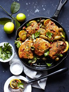 lemon olive chicken.