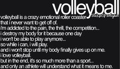 I play Volleyball 🏐💕
