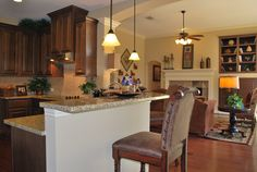 kitchen & living area #DTH #DreamHome