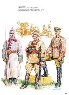 Guerra civil Rusa 1918-1922. Ejercito Rojo