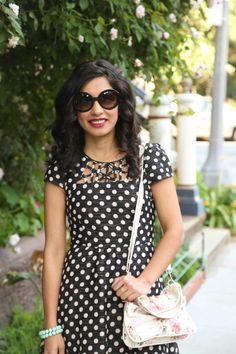 on repeat: the polka dot dress - beauty and sass