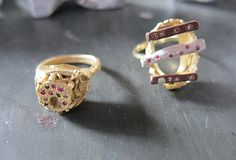 Karl Fritsch Rings 2012 Gold , silver, copper , diamonds , rubies, sapphires