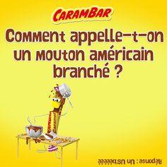 Une fois que le Carambar est mangé, il est possible de rire avec les fameuses blagues Carambar !