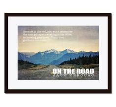 Straße, Jack Kerouac, Literatur Poster, inspirierendes Zitat Jack Kerouac Poster, Wand-Dekor