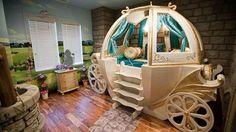 Enchanting Disney Bedrooms – Likes Disney Themed Bedrooms, Bedroom Themes, Girls Bedroom, Bedroom Decor, Bedroom Furniture, Bedroom Ideas, Themed Rooms, Bedroom Designs, Cinderella Carriage Bed