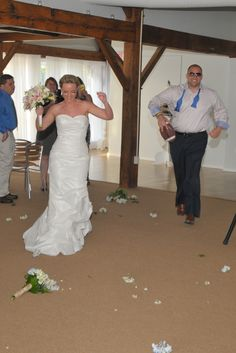 Bride & Groom entering wedding reception.   A Perfect Image Photography Middleton, MA