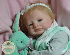 VIOLET - Precious Custom Order 19 inch Reborn Baby made to Your Specifications. Choose Gender, Skin, Hair and Eye Color and Name.