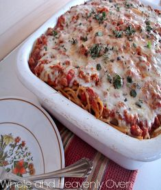 3 Cheese Beef Spaghetti: Don't miss out on this great baked spaghetti casserole.