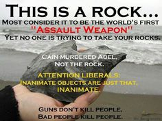 leave my rocks and firearms alone.