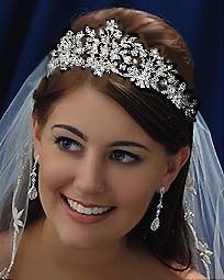 Tall leafy bridal tiara CB7102 - Same as David's Bridal