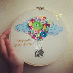 7 Adventure is Out There UP Embroidery Hanging Hoop by AdorkableMe
