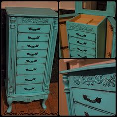 Jewelry Armoire done in @vgcp #vangogh and @generalfinishes #lampblack
