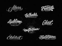 Lettering Logo Designs by Dalibor Momcilovic