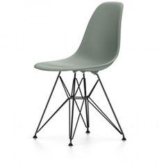 Eames DSR stoel met zwart gepoedercoat onderstel (nieuwe afmetingen) | Vitra